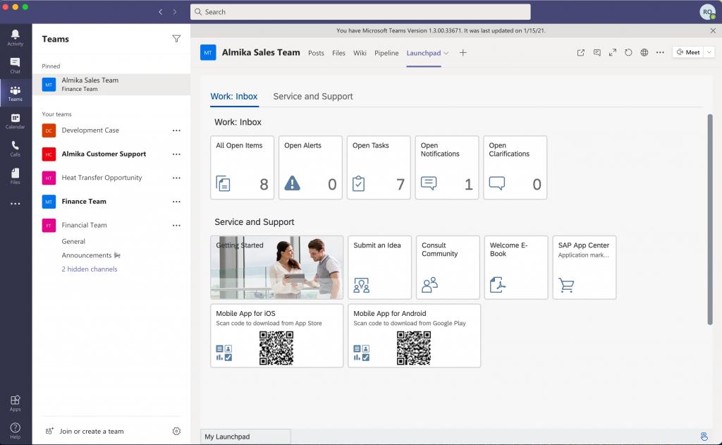 MS Teams & SAP Business ByDesign