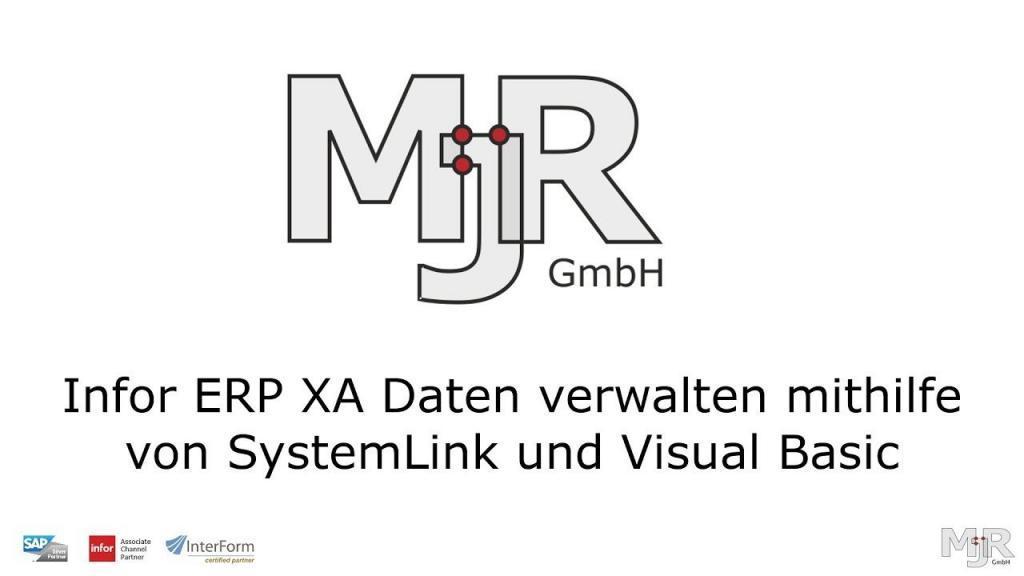 """Thumbnail des Tutorials """"Verwalten Sie Ihre Infor ERP XA Daten mithilfe von SystemLink und Visual Basic"""""""