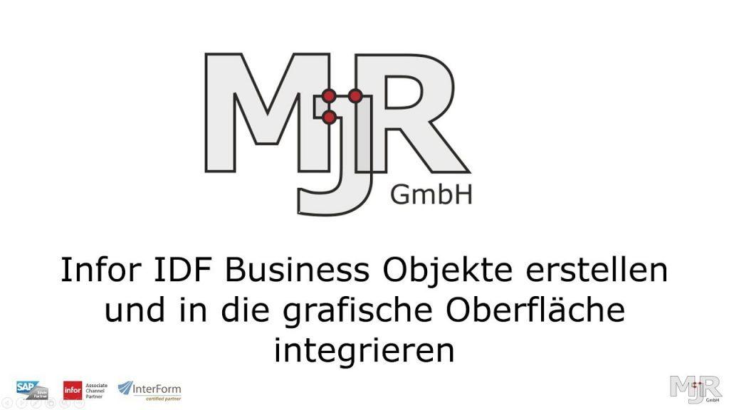Infor IDF - Business Objekte anlegen und integrieren Thumbnail
