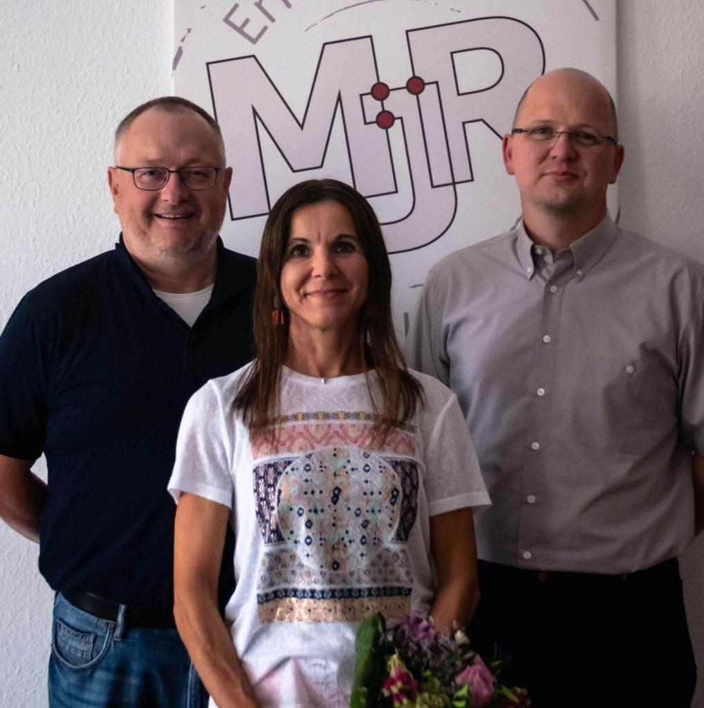 10 Jahre MJR: Michael Raber (CEO), Petra Goll, Jens Esser (COO)