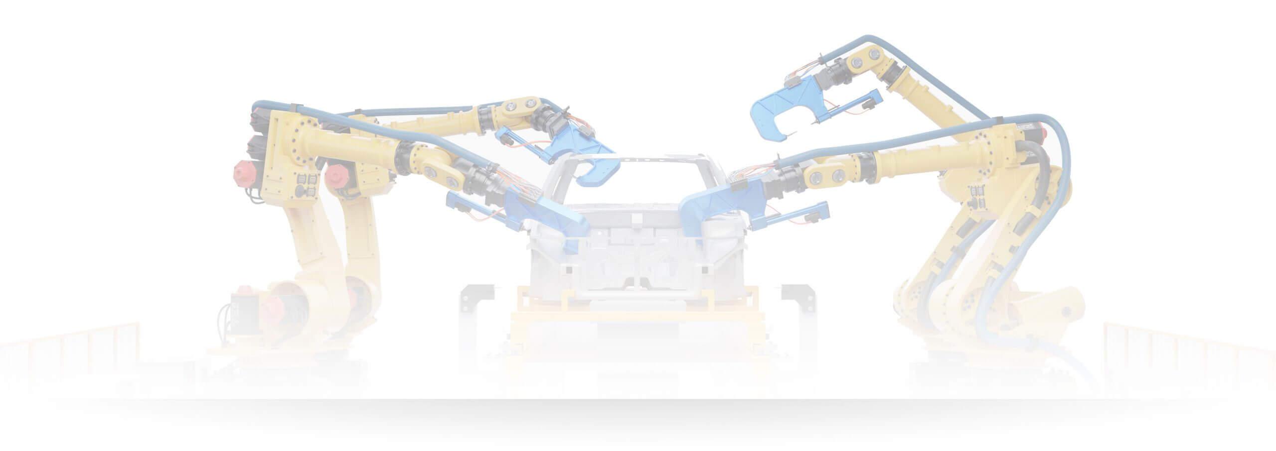 Roboter in Fertigungslinie